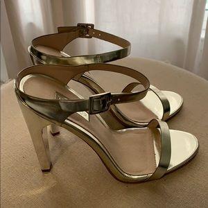 Topshop gold heels size 38